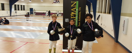 February 19-21, 2016 Super Youth Circuit fencing National tournament in Austin, TX